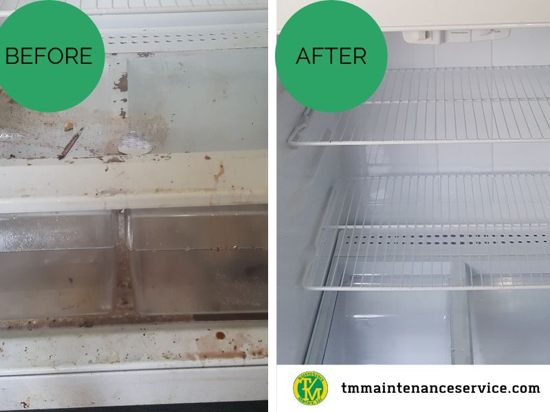 Residential Refrigerator before and after